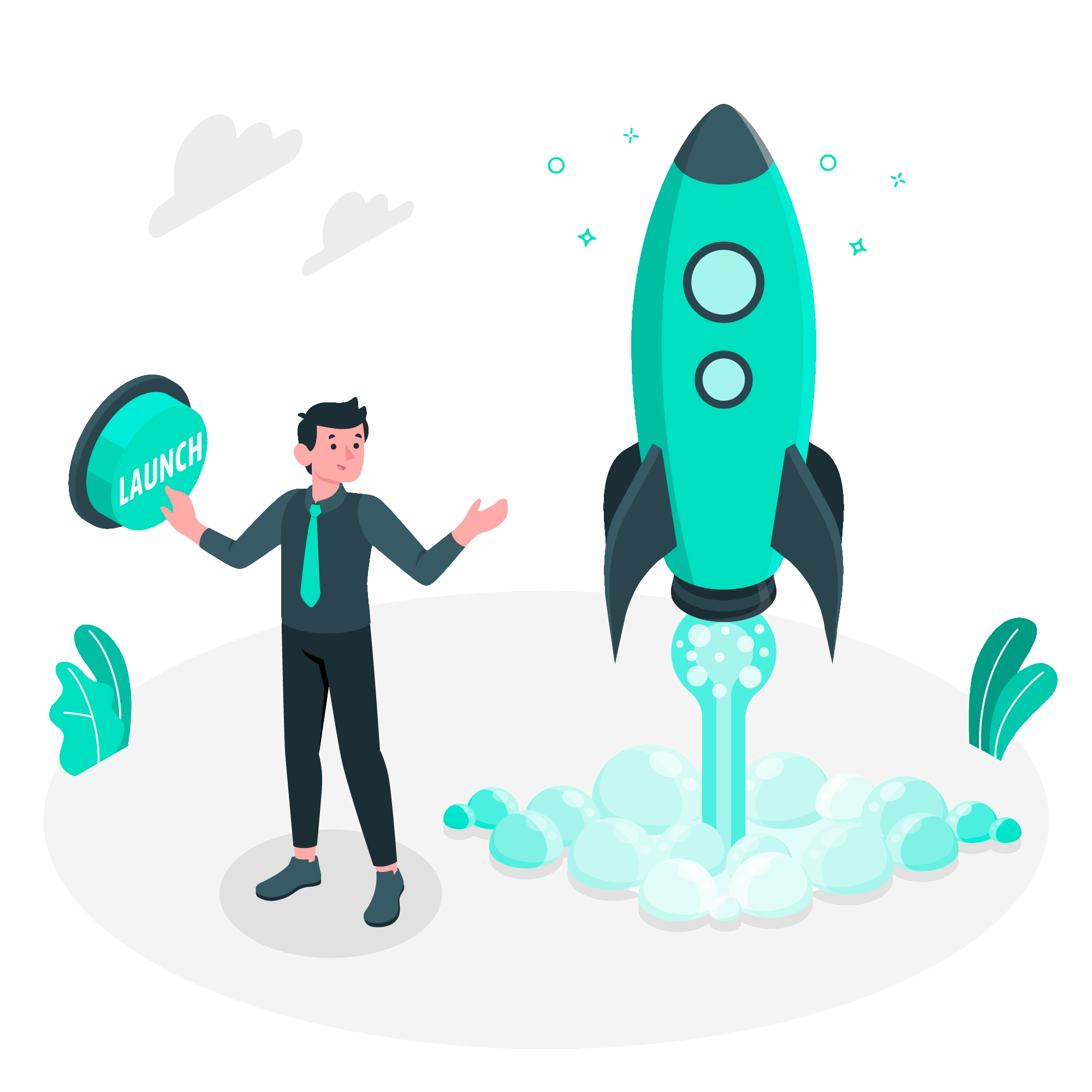 animated-elevate-collective-customer-pressing-launch-button-beside-rocket